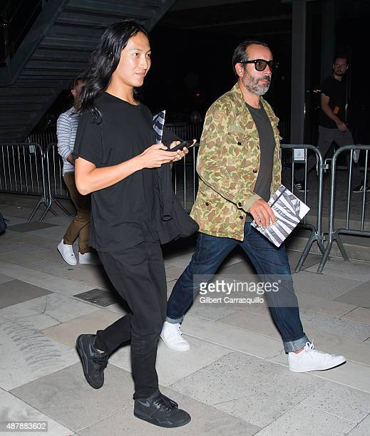 Fashion designer Alexander Wang is seen arriving at the Givenchy fashion show during Spring 2016 New York Fashion Week on September 11 2015 in New...
