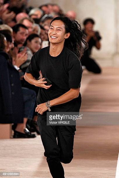 Fashion designer Alexander Wang walks the runway during the Balenciaga Ready to Wear show as part of the Paris Fashion Week Womenswear Spring/Summer...