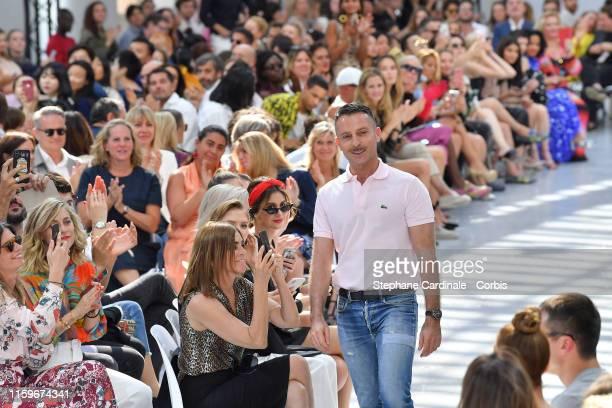 Fashion designer Alexandre Vauthier walks the runway during the Alexandre Vauthier Haute Couture Fall/Winter 2019 2020 show as part of Paris Fashion...