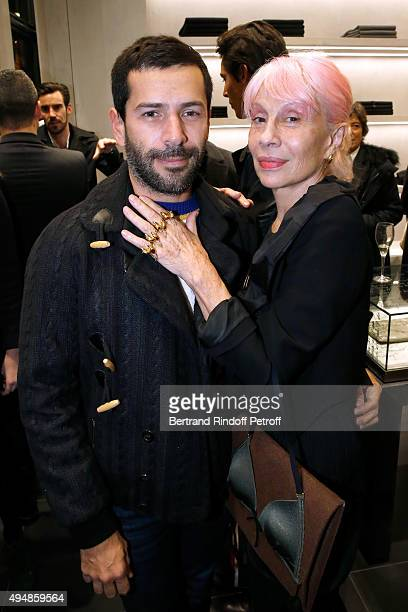 Fashion Designer Alexis Mabille and Marie Beltrami attend the Opening of the Collection 'Exemplaire x Nicolas Ouchenir' at Exemplaire Store on...