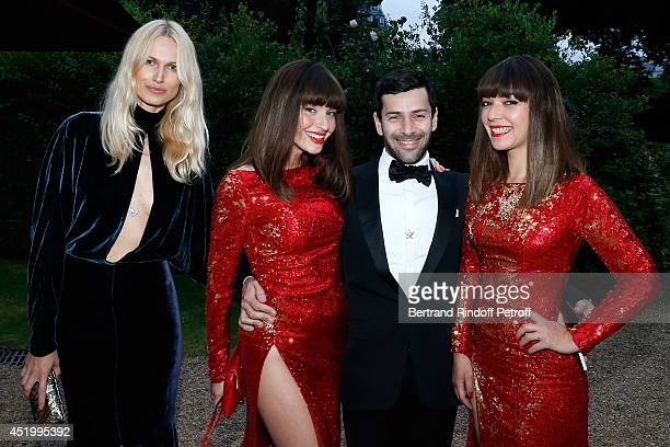 Fashion designer Alexis Mabille les Brigittes Sylvie Hoarau and Aurelie Saada and guest attend the 'Chambre Syndicale de la Haute Couture' Cocktail...