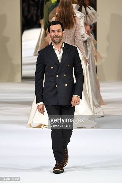 Fashion designer Alexis Mabille walks the runway during the Alexis Mabille Haute Couture Fall Winter 2018/2019 fashion show as part of Paris Fashion...