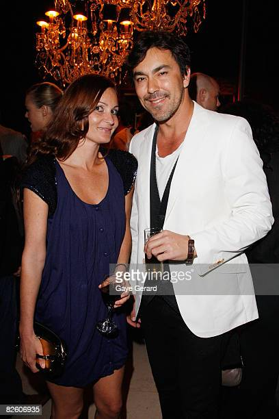 Fashion Designer Alice McCall and Nick Leary pose at the Marie Claire Fashion with Heart Cocktail Party in Darlinghurst on August 30 2008 in Sydney...