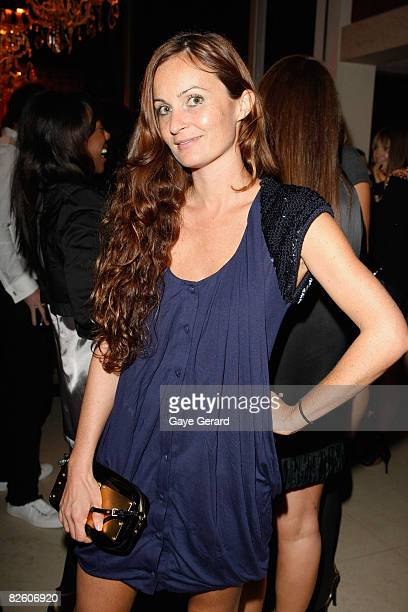 Fashion Designer Alice McCall poses at the Marie Claire Fashion with Heart Cocktail Party in Darlinghurst on August 30 2008 in Sydney Australia