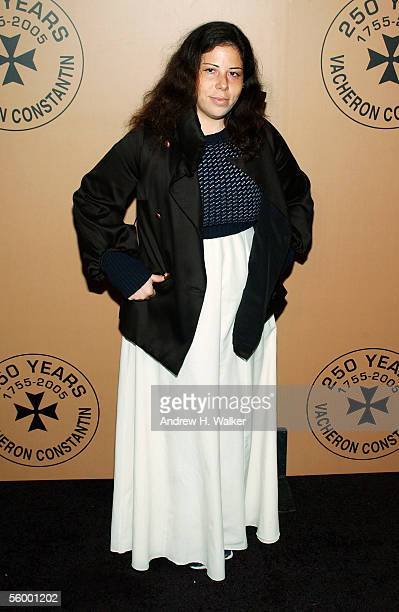 Fashion designer Alice Roi attends the 250th Anniversary Celebration of luxury watch brand Vacheron Constantin hosted by Melania Trump on October 24...