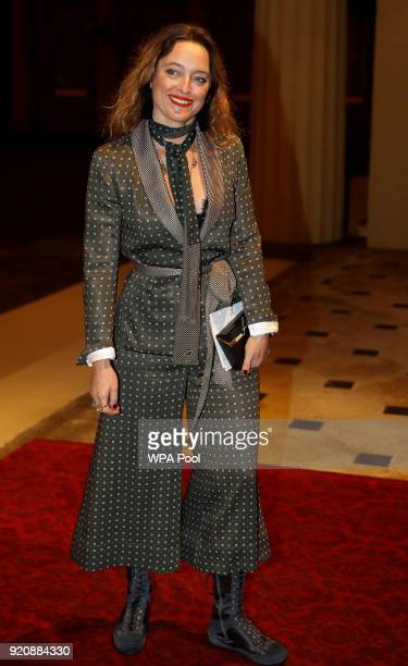 Fashion designer Alice Temperley attends The Commonwealth Fashion Exchange Reception at Buckingham Palace on February 19 2018 in London England
