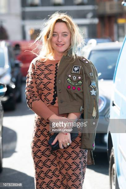 Fashion designer Alice Temperley wears all Temperley London during London Fashion Week September 2018 on September 17 2018 in London England
