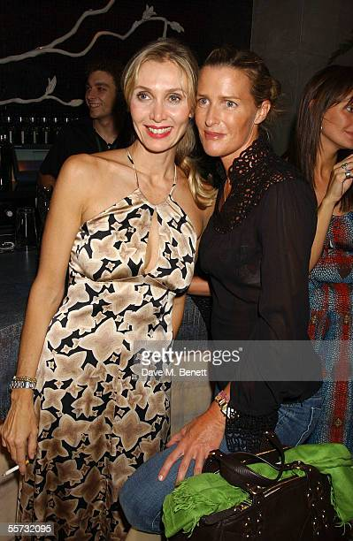 Fashion designer Allegra Hicks and sister writer India Hicks attend the 20th Anniversary Party for shoe designer Patrick Cox at Nobu, Berkeley Street...