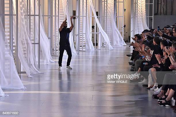 Fashion designer Ami Alexandre Mattiussi walks the runway during the Ami Alexandre Mattiussi Menswear Spring/Summer 2017 show as part of Paris...