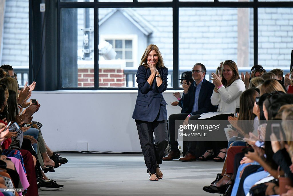 Fashion designer Amy Smilovic walks the runway at the Tibi Ready to Wear Spring/Summer 2018 during the New York Fashion Week on September 9, 2017 in New York City.