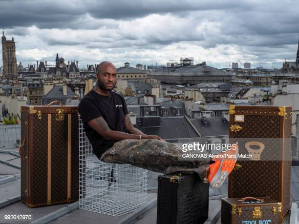 Fashion designer and artistic director of Louis Vuitton's men's wear collection Virgil Abloh is photographed for Paris Match on June 18 2018 in Paris...