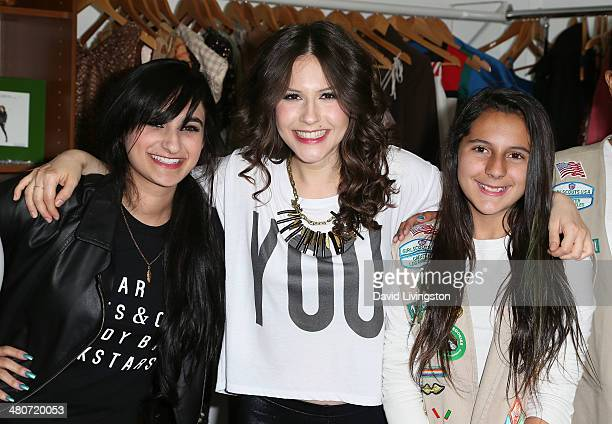 Fashion designer and celebrity stylist Jazmin Whitley actress Erin Sanders and a member of Girl Scout Cadette Troop 12581 attend the Girl Scouts of...
