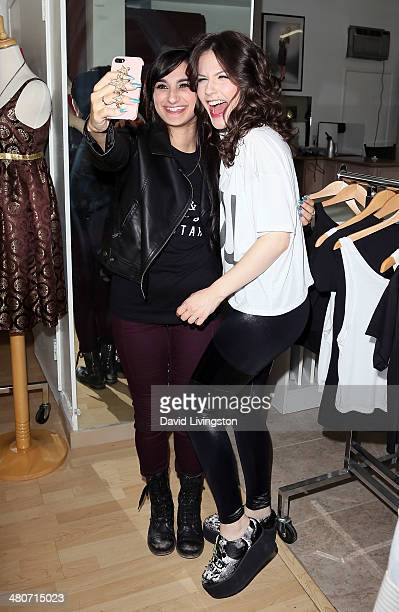 Fashion designer and celebrity stylist Jazmin Whitley and actress Erin Sanders pose for a selfie at the Girl Scouts of the USA's Girl Scout Cookie...
