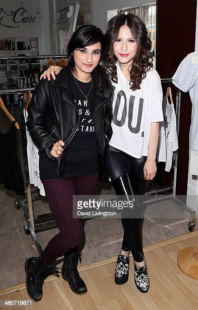 Fashion designer and celebrity stylist Jazmin Whitley and actress Erin Sanders attend the Girl Scouts of the USA's Girl Scout Cookie Championship...