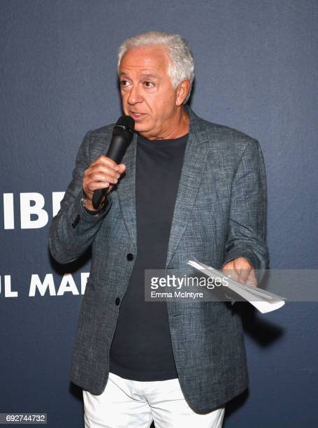 Fashion designer and cofounder of Guess Inc Paul Marciano speaks at GUESS Celebrates 35 Years with Opening of Exhibition at the FIDM Museum Galleries...
