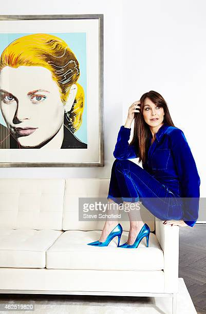Fashion Designer And Cofounder Of Jimmy Choo Tamara Mellon Is Photographed At Her NY Apartment For