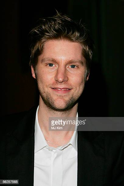 """Fashion designer and Design Director for Burberry, Christopher Bailey, arrives at the private view and champagne reception for """"Diana, Princess Of..."""