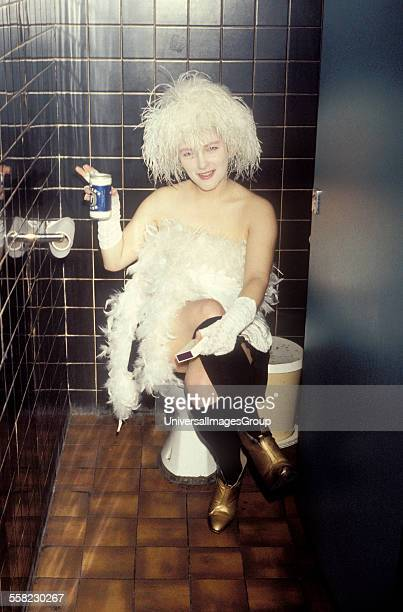 Fashion designer and DJ Rachel Auburn London 1985