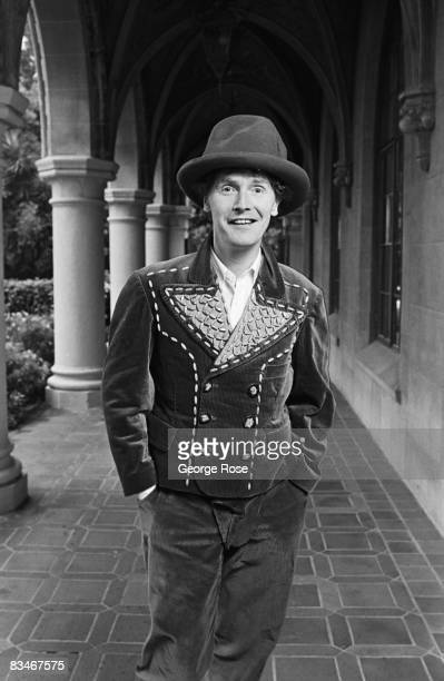 Fashion designer and former The Sex Pistols creator and manager Malcolm McLaren poses during a 1982 West Hollywood California photo portrait session...