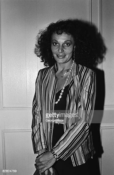 Fashion designer and industry icon, Diane von Furstenberg , poses following a 1979 Hollywood, California, fashion show.