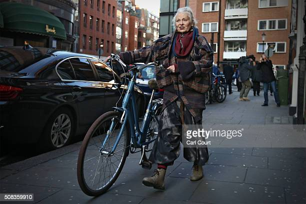 Fashion designer and political activist Vivienne Westwood leaves after visiting Wikileaks founder Julian Assange as he continues to seek asylum at...