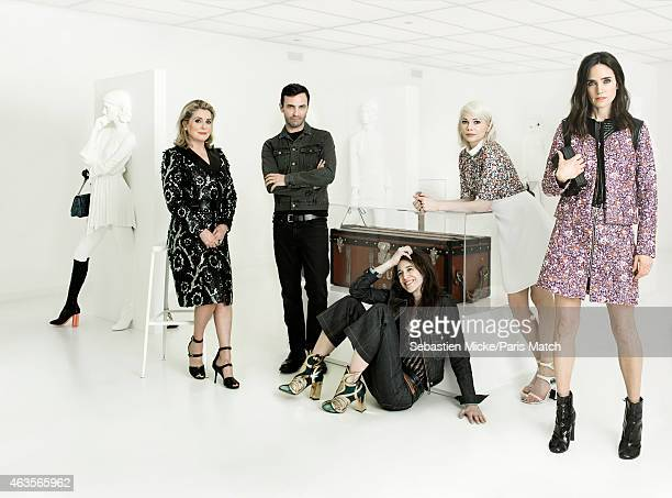 Fashion designer and the current creative director of the house of Louis Vuitton Nicolas Ghesquieres is photographed for Paris Match with brand...