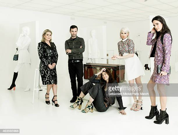 Fashion designer and the current creative director of the house of Louis Vuitton, Nicolas Ghesquieres is photographed for Paris Match with brand...