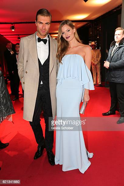 Fashion designer Andre Borchers and model Charlott Cordes during the 23rd Opera Gala benefit to 'Deutsche AIDSStiftung' at Deutsche Oper Berlin on...