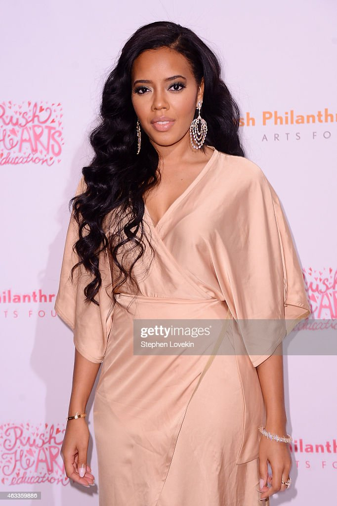 Fashion designer Angela Simmons attends Russell Simmons' Rush Philanthropic Arts Foundation's annual Rush HeARTS Education Valentine's Luncheon at The Plaza Hotel on February 13, 2015 in New York City.