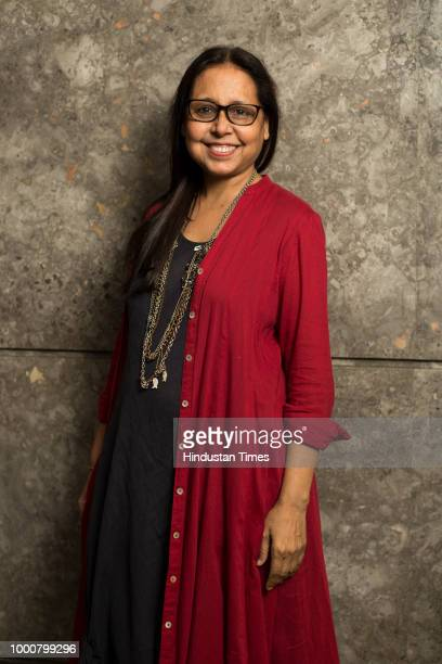 Fashion Designer Anju Modi poses for a profile shoot for FDCI Fashion week on June 25 2018 in New Delhi India