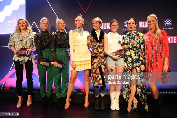Fashion designer Anna Heinrichs of Horror Vacui Lisa and Lena Influencer of the year Stefanie Giesinger Stylist Leandra Bendorf Lea van Acken Style...