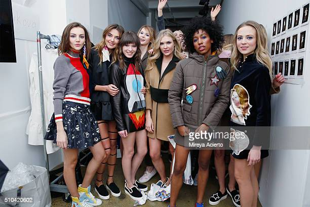 Fashion designer Anna Karenina poses backstage at the Anna K fashion show during Fall 2016 MADE Fashion Week at Milk Studios on February 15 2016 in...