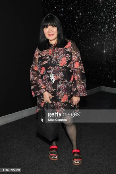 Fashion designer Anna Sui attends Pierre Cardin Future Fashion Retrospective Exhibition at Brooklyn Museum on July 17 2019 in New York City