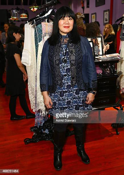 Fashion designer Anna Sui attends the Anna Sui for O'Neill Collectionl aunch party held at Anna Sui Soho on March 31 2015 in New York City