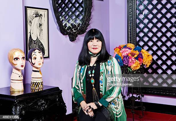 Fashion designer Anna Sui is photographed for Wall Street Journal on October 1 2014 in New York City