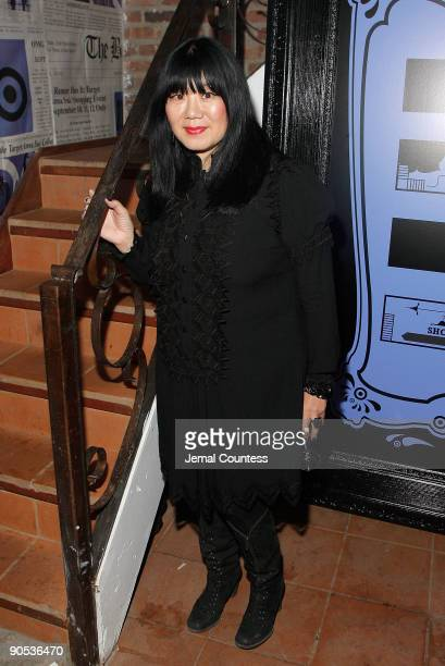 "Fashion designer Anna Sui poses for a photo at the launch of Anna Sui's ""Gossip Girl"" inspired collection at the Target pop-up store on September 9,..."