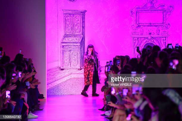 Fashion designer Anna Sui walks the runway at the Anna Sui Ready to Wear Fall/Winter 20202021 fashion show during New York Fashion Week on February...