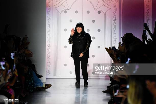Fashion designer Anna Sui walks the runway for Anna Sui Ready to Wear Spring/Summer 2020 fashion show during New York Fashion Week on September 09...