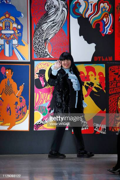 Fashion designer Anna Sui walks the runway for the Anna Sui Ready to Wear Fall/Winter 20192020 fashion show during New York Fashion Week on February...