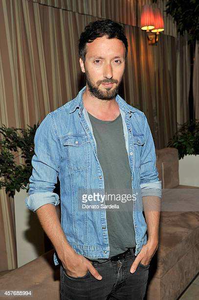 Fashion designer Anthony Vaccarello attends the FORWARD by Elyse Walker and Anthony Vaccarello dinner at Sunset Towers on October 22 2014 in West...