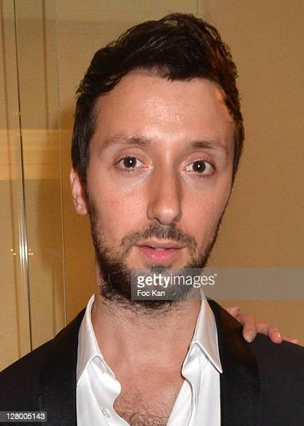 Fashion designer Anthony Vaccarello attends the Kate Moss for Fred Jewellery Launch Paris Fashion Week Spring / Summer 2012 at Hotel Ritz on October...