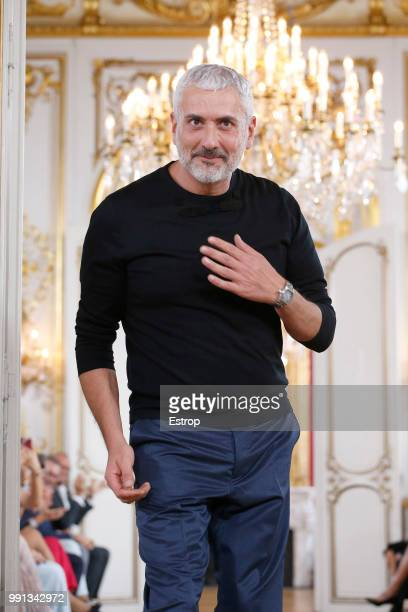 Fashion designer Antonio Grimaldi during the Antonio Grimaldi Haute Couture Fall Winter 2018/2019 show as part of Paris Fashion Week on July 2 2018...