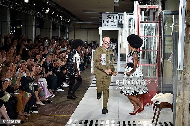 Fashion designer Antonio Marras walks the runway at the Antonio Marras Ready to Wear show during Milan Fashion Week Spring/Summer 2017 on September...