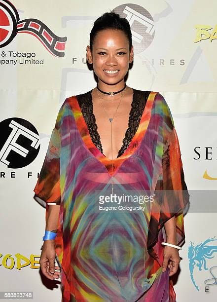 Fashion designer Anya Ayoung Chee attends Bazodee premiere and concert featuring Machel Montano and friends at PlayStation Theater on July 27 2016 in...