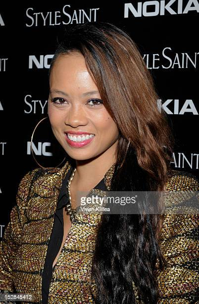 Fashion designer Anya AyoungChee attends Nokia Joins With StyleSaint To Celebrate The Launch Of The Mobile Fashion App on September 26 2012 in Los...