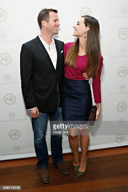 Fashion designer Ariana Rockefeller and husband Matthew Bucklin attend the opening reception to celebrate Ariana Rockefeller Fall/Winter 2014...