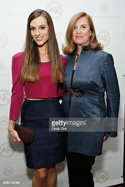 Fashion designer Ariana Rockefeller and mother Diana Rockefeller attend the opening reception to celebrate Ariana Rockefeller Fall/Winter 2014...