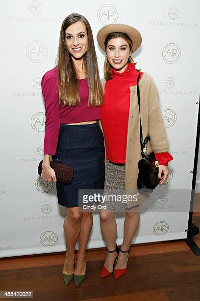 Fashion designer Ariana Rockefeller and Sarah Uslan attend the opening reception to celebrate Ariana Rockefeller Fall/Winter 2014 collection at the...