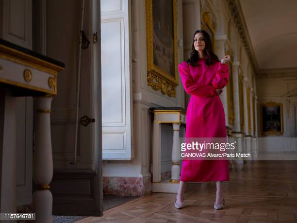 Fashion designer Ariana Rockefeller is photographed for Paris Match on June 29 2019 at the Chateau de Versailles France
