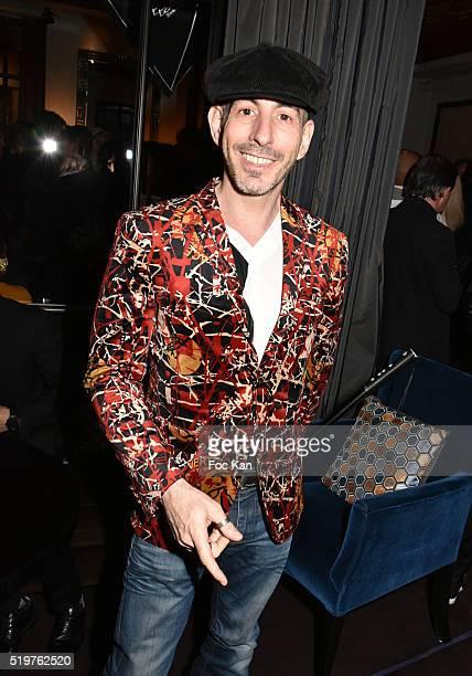 Fashion designer Art C attends 'Guitar Tribute' by Golden disc awarded Jean Pierre Danel at Hotel Burgundy on April 7 2015 in Paris France
